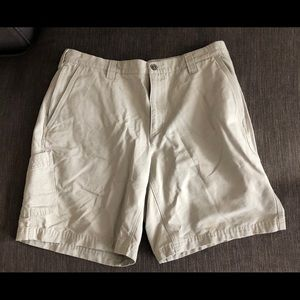 Columbia sportswear lander beige hiking shorts